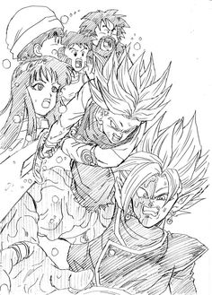 """Spirit Sword!"" Drawn by: Young Jijii! Found by: Son Goku (Kakarot) #SonGokuKakarot"