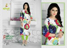 Ready to ship best quality kurties .. SIZE M XL  BUST 40 44  Kurtie size and fabric detail:-  Rayon Printed fabric with top length 44 inch.  Price 799/- + shipping extra   Order wassup 8511954456  Visit www.tanuzstore.in