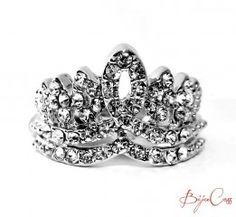 Anel Coroa prateado Compre em nossa Loja Virtual www.bijucass.com.br