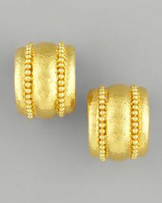 Elizabeth Locke Amalfi 19k Gold Huggie Earrings en383RUBqz