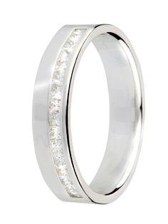 white gold wedding ring with diamonds