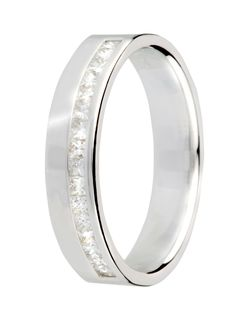 white gold wedding ring. Loving this for a man, nice way of incorporating diamonds for him too