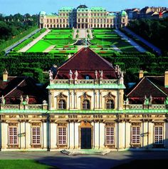 Belvedere Palace- Vienna, Austria. I lived very close to this beautiful palace and the Südbanhof