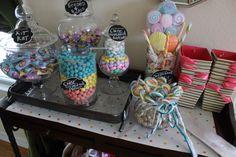 Baby shower candy bar
