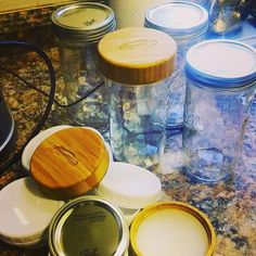 Reusable, and Leak-Proof Bamboo Storage Lids Designed for Regular Mouth Canning Jars (Ball, Kerr, Bernardin, etc.) Made from Fast-Growing and Highly Renewable B