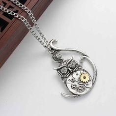 Steampunk Owl Necklace - Sedalia Designs