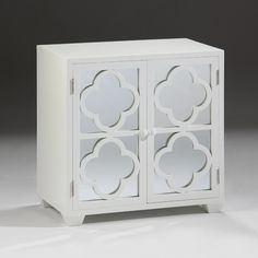 Rectangular Cabinet With Lacquered White Finish. Details On Our Website:  DecorativeCrafts.com #DecorativeCrafts #Chests #Chest #Cabinet #Cabinets  #White ...