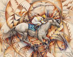 Kaleidoscope Rider Painting by Ricardo Chavez-Mendez