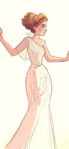 ---another sleeve over her right shoulder and this dress would be GORGEOUS! (Reminds me of River Song)