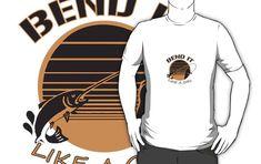 'Bend it like a Girl' T-Shirt by handcraftline Girls Be Like, Pop Art, Fishing, Tees, Funny, Cute, T Shirt, Stuff To Buy, Supreme T Shirt