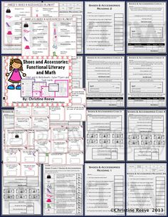 Have students working on life skills? Check out this shoes and accessories store set of activities for money, functional literacy, check writing, cash, and debit card use set up at different levels for different levels of skills. $4