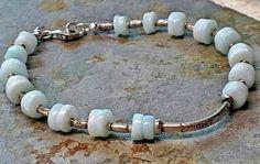 Karen hill tribe fine silver natural blue larimar beaded boho bracelet by Emmalishop on Etsy Bangle Bracelets, Bangles, Bohemian Gypsy, Artisan Jewelry, Boho Jewelry, Small Businesses, Bali, Christmas Ideas, Gemstones