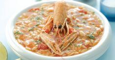 Συνταγή για κριθαρότο με καραβίδες του Λευτέρη Λαζάρου. Κριθαράκι με καραβίδες. Κριθαράκι με θαλασσινα Seafood, Recipies, Chicken, Meat, Cooking, Ethnic Recipes, Party, Gourmet, Recipes