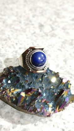 Lapis Ring Size 10 by KarinsForgottenTreas on Etsy