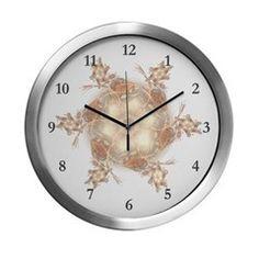 Pastel Peach Floral Dreams Kalei Modern Wall Clock