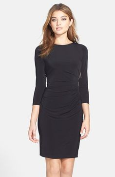 Ivanka Trump Gathered Jersey & Ponte Sheath Dress available at #Nordstrom