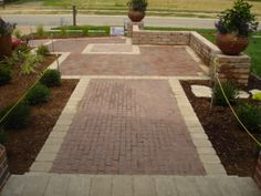Clay paver entrance and courtyard  CopperTree landscape