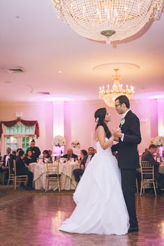 A Brides First Dance In The Grand Ballroom Of Belle Voir Manor