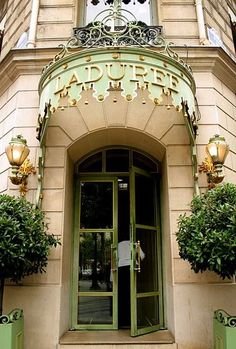 Laduree NYC.  What an entrance!