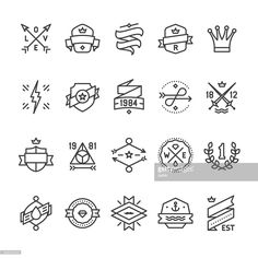 Clipart vectoriel : Vintage Labels, Geometric Badges and Hipster Frames related vector icons