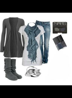 blueand grey outfit #xmas_present #Black_Friday #Cyber_Monday