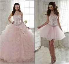 Detachable Ruffled Train Sweet 15 Girls Quinceanera Dresses 2018 Crystal Beaded Sweetheart Corset Prom Party Masquerade Ball Gowns Mermaid Wedding Dress Long Sleeve Wedding Dresses Lace Wedding Dress Online with $179.43/Piece on Kazte's Store | DHgate.com