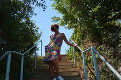 Crochet summer dress. Yarn: Alize, batik bahar.