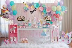 Bday Girl, 1st Birthday Girls, Unicorn Birthday Parties, Princess Birthday, Unicorn Party, First Birthday Parties, First Birthdays, Balloon Garland, Balloons