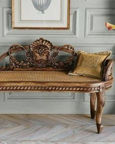 Marvelous Is It A Bench Or A Settee....lovely Use Of Cane.