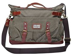 Gootium 30621 Canvas Genuine Leather Vintage Top Handle Handbag Cross Body Bag (Army Green) Gootium http://www.amazon.com/dp/B00EQRN4UQ/ref=cm_sw_r_pi_dp_XcQ6ub1DMT1D7