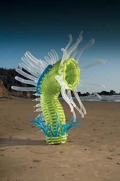 Giant balloon microorganism art installations by Jason Hackenwerth