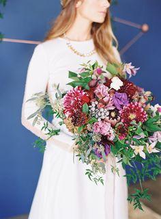 jewel-tone bouquet   Photography : The Great Romance   Floral Design : Milieu Floral Design
