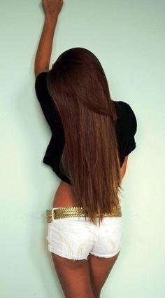 Perfect hair color for the Summer since my hair is already this longgg Long Brown Hair, Dark Hair, Shiny Hair, Sleek Hair, Pretty Hairstyles, Straight Hairstyles, Hairstyles Haircuts, Unique Hairstyles, Latest Hairstyles