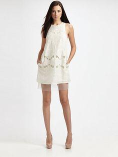 BCBGMAXAZRIA - Simona Embroidered Dress - Saks.com