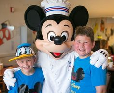 Chef Mickey's at Disney's Contemporary resort is a great character restaurant for the boys in your family!