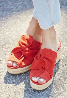 Espadrille wedge with textured knot detail | Sole Society Carima