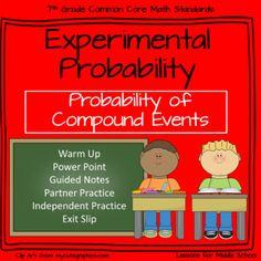 This lesson teaches students how to find the Experimental Probability of Compound Events.    Students will examine problem sets and work with their teammates to solve problems regarding the probability of events occurring by using Tree Diagrams, Tables, and the Probability Formula They will learn specific methods on how to multiply or add probabilities to solve for specific events.