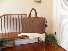 84  Aegean Waters Chenille Tapestry Carpet Bag  by SignsofWelcome, $50.00