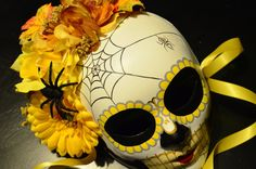 Spring Sunshine Day of the Dead Bridal Dia de los by HikariDesign