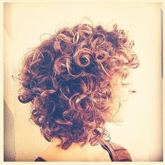 A stacked lob - great for curly hair.