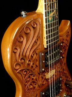 "Blueberry ""Hawk & Dragon"" Electric Guitar --maybe one day husband will make a guitar like this"