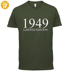 1949 Limierte Auflage / Limited Edition - 68. Geburtstag - Herren T-Shirt - Olivgrün - M (*Partner-Link)
