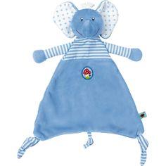Blaues Elefant-Schnuffeltuch von BabyGlück zum Kuscheln und Liebhaben.