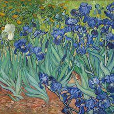 Colorful fabrics digitally printed by Spoonflower - Van Gogh - Irises (1889) (half size)