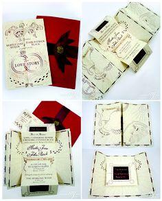 Romance Managed - Handmade Invitation