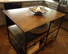 Industrial Repurposed Kitchen Islands | Rustic Industrial Custom Rebar Pub Table…