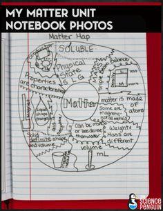Matter science notebook photos