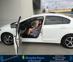 https://flic.kr/p/NTD5DU | Happy Anniversary to Monica on your #Honda #Civic Sedan from Kiara Campos at Honda Cars of Rockwall! | deliverymaxx.com/DealerReviews.aspx?DealerCode=VSDF