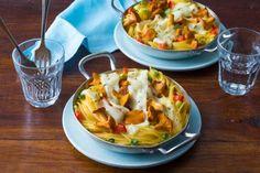 Für die Pilzliebhaber unter uns haben wir das Rezept gratinierte Spaghettinester mit Pfifferlingen.