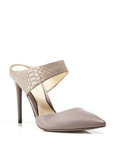 Kenneth Cole Pointed Toe Slide Pumps - Wendy High Heel | Bloomingdale's